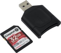 Карта памяти Kingston SDHC 32Gb V90 UHS-II U3 + Card Reader
